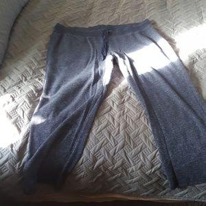 Blue terry sweat pants